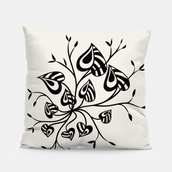 Abstract Flower With Pointy Leaves Pillow thumbnail image