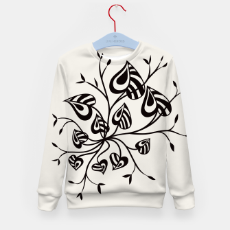 Thumbnail image of Abstract Flower With Pointy Leaves Kid's Sweater, Live Heroes