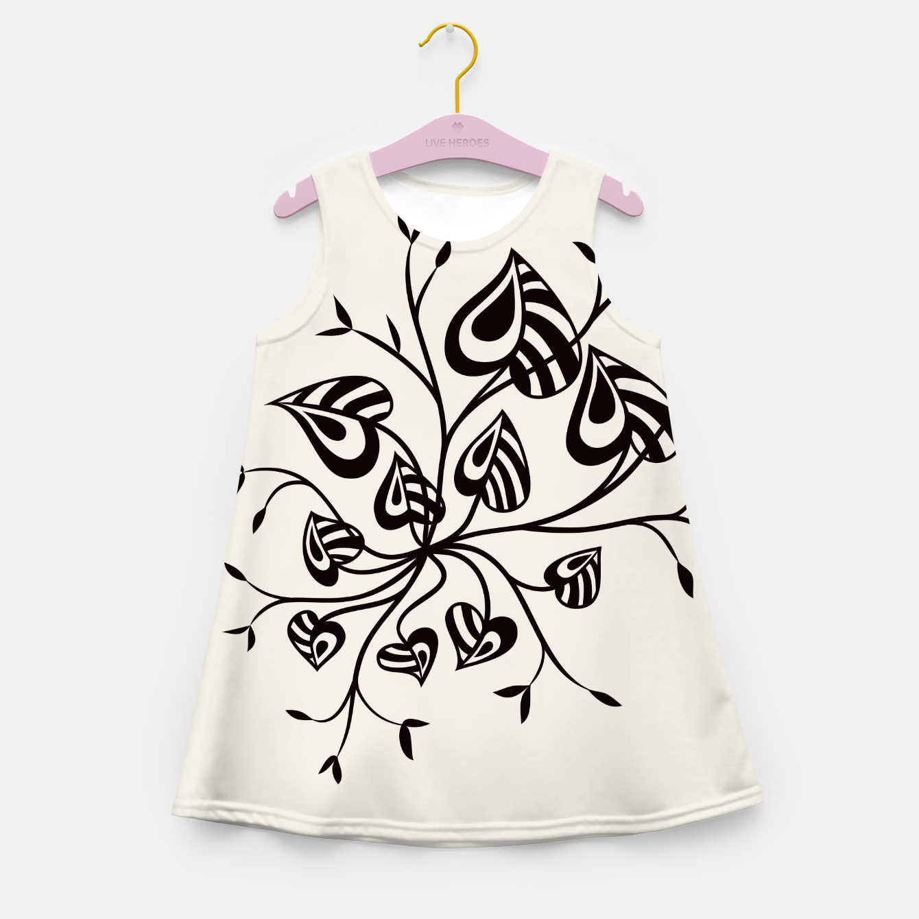 Image of Abstract Flower With Pointy Leaves Girl's Summer Dress - Live Heroes