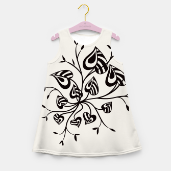 Thumbnail image of Abstract Flower With Pointy Leaves Girl's Summer Dress, Live Heroes
