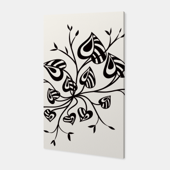 Thumbnail image of Abstract Flower With Pointy Leaves Canvas, Live Heroes