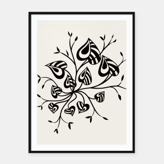 Thumbnail image of Abstract Flower With Pointy Leaves Framed poster, Live Heroes