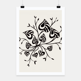 Thumbnail image of Abstract Flower With Pointy Leaves Poster, Live Heroes