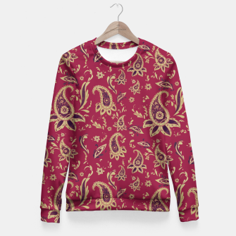 Thumbnail image of Paisley in Gold Fitted Waist Sweater, Live Heroes