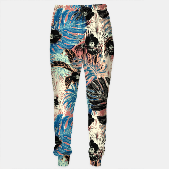 Thumbnail image of Vibrant retro exotic jungle Pantalones de chándal, Live Heroes