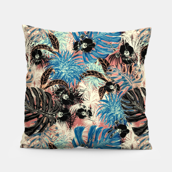 Thumbnail image of Vibrant retro exotic jungle Almohada, Live Heroes