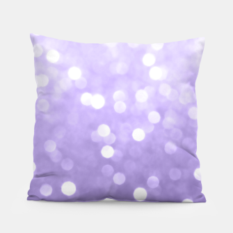 Thumbnail image of Ultra violet purple sparkly bokeh Pillow, Live Heroes