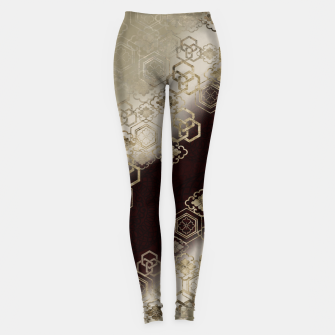 Thumbnail image of Japanese traditional family emblem art red gold Leggings, Live Heroes