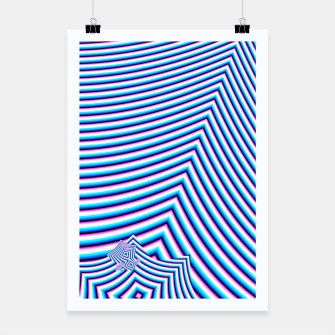 Thumbnail image of blue fractal pattern Poster, Live Heroes