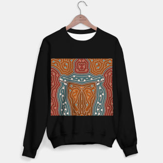 Thumbnail image of An illustration based on aboriginal style of dot painting depicting landscape by night before settlement. Sweater regular, Live Heroes