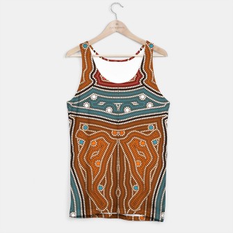 Thumbnail image of An illustration based on aboriginal style of dot painting depicting landscape by night before settlement. Tank Top, Live Heroes