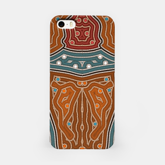 Thumbnail image of An illustration based on aboriginal style of dot painting depicting landscape by night before settlement. iPhone Case, Live Heroes
