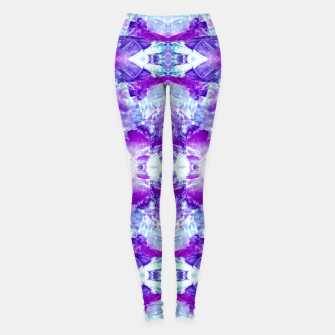 Thumbnail image of Mosaic of violet crystals Leggings, Live Heroes