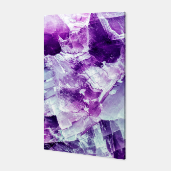 Miniaturka Ultra violet crystal detail Canvas, Live Heroes