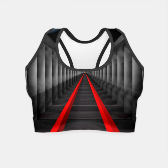 Thumbnail image of The Light At The Far End Of The Tracks Crop Top, Live Heroes