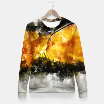 Thumbnail image of Forest Yellow Mushroom Fitted Waist Sweater, Live Heroes