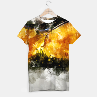 Thumbnail image of Forest Yellow Mushroom T-shirt, Live Heroes