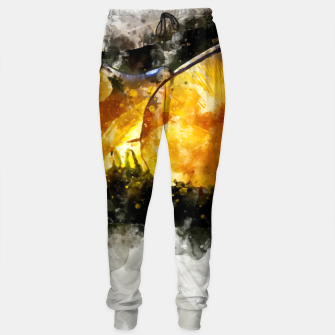Thumbnail image of Forest Yellow Mushroom Sweatpants, Live Heroes