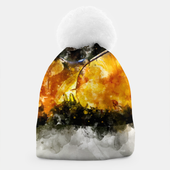 Thumbnail image of Forest Yellow Mushroom Beanie, Live Heroes