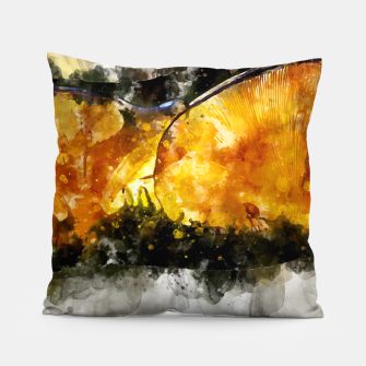 Thumbnail image of Forest Yellow Mushroom Pillow, Live Heroes