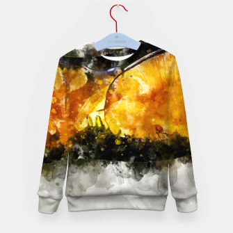 Thumbnail image of Forest Yellow Mushroom Kid's Sweater, Live Heroes