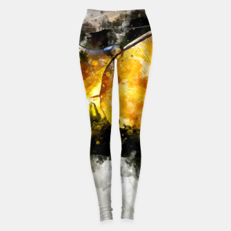 Thumbnail image of Forest Yellow Mushroom Leggings, Live Heroes