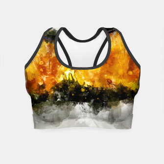 Thumbnail image of Forest Yellow Mushroom Crop Top, Live Heroes