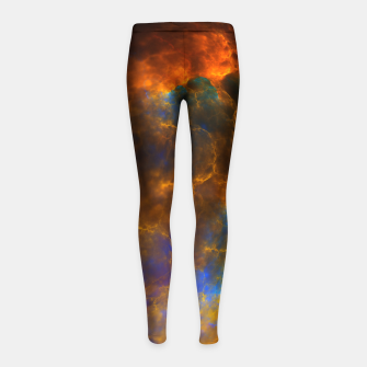Thumbnail image of Nebula Of Fire Girl's Leggings, Live Heroes