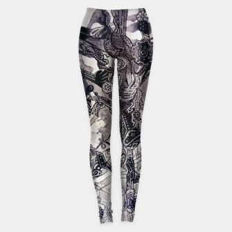 Thumbnail image of Teapunk tree Leggings, Live Heroes