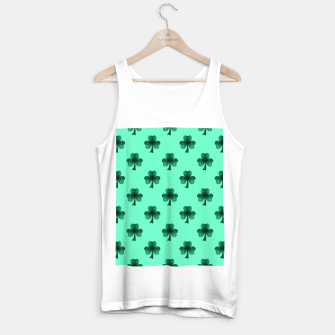 Thumbnail image of Sparkly Emerald Green Sparkles Shamrock Clover pattern turquoise Tank Top regular, Live Heroes