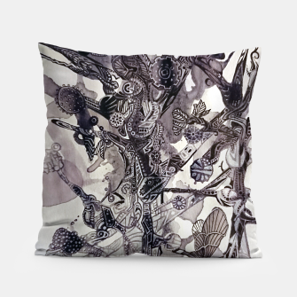 Thumbnail image of Teapunk tree Pillow, Live Heroes