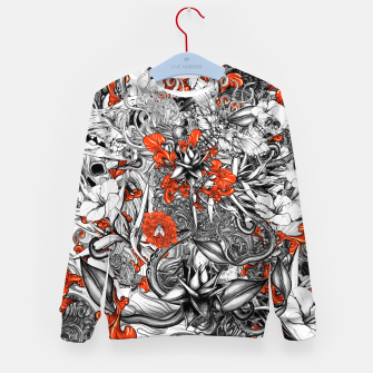 Thumbnail image of Sixth Mix Black Kid's Sweater, Live Heroes