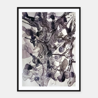 Thumbnail image of Teapunk tree Framed poster, Live Heroes