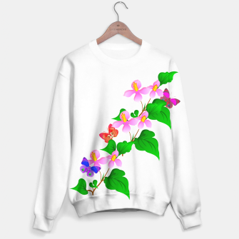 Thumbnail image of Flowers and Butterfly's  Sweater, Live Heroes