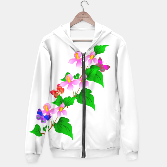 Thumbnail image of Flowers and Butterfly's  Hoodie, Live Heroes