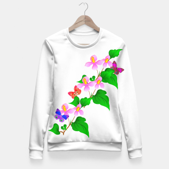 Thumbnail image of Flowers and Butterfly's  Fitted Waist Sweater, Live Heroes