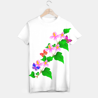 Thumbnail image of Flowers and Butterfly's  T-shirt, Live Heroes