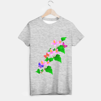 Thumbnail image of Flowers and Butterfly's  T-shirt regular, Live Heroes