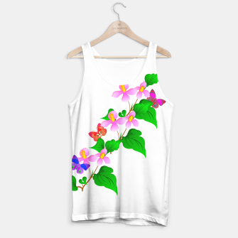 Thumbnail image of Flowers and Butterfly's  Tank Top, Live Heroes