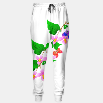 Thumbnail image of Flowers and Butterfly's  Sweatpants, Live Heroes