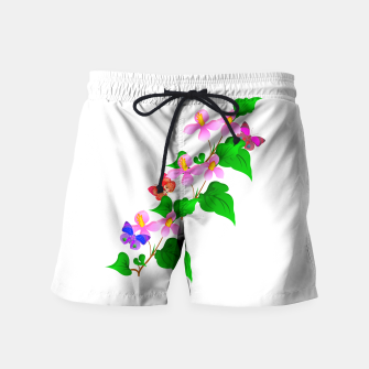 Thumbnail image of Flowers and Butterfly's  Swim Shorts, Live Heroes
