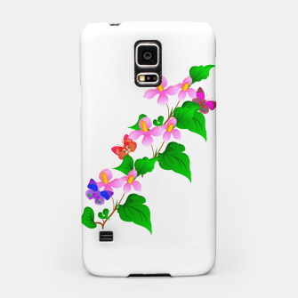 Thumbnail image of Flowers and Butterfly's  Samsung Case, Live Heroes