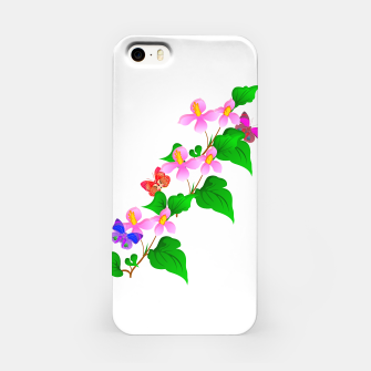 Thumbnail image of Flowers and Butterfly's  iPhone Case, Live Heroes