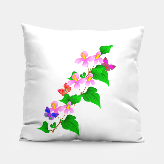 Thumbnail image of Flowers and Butterfly's  Pillow, Live Heroes