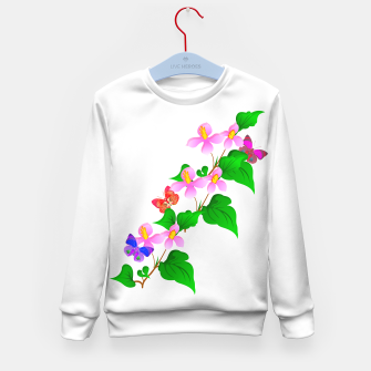 Thumbnail image of Flowers and Butterfly's  Kid's Sweater, Live Heroes