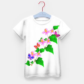Thumbnail image of Flowers and Butterfly's  Kid's T-shirt, Live Heroes