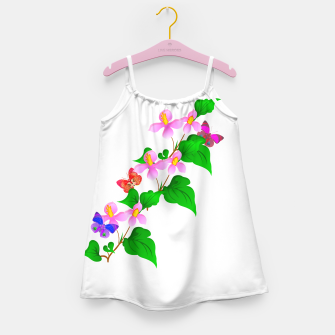 Thumbnail image of Flowers and Butterfly's  Girl's Dress, Live Heroes