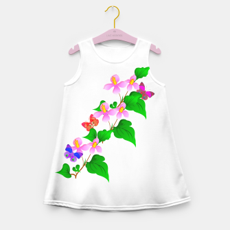 Thumbnail image of Flowers and Butterfly's  Girl's Summer Dress, Live Heroes