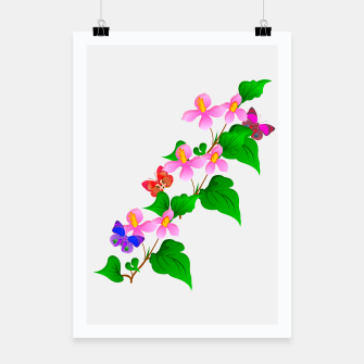 Thumbnail image of Flowers and Butterfly's  Poster, Live Heroes