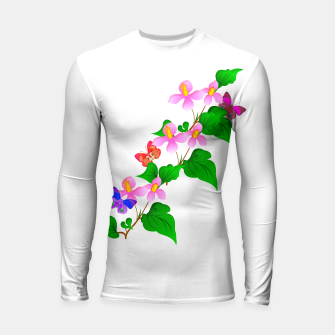 Thumbnail image of Flowers and Butterfly's  Longsleeve Rashguard , Live Heroes